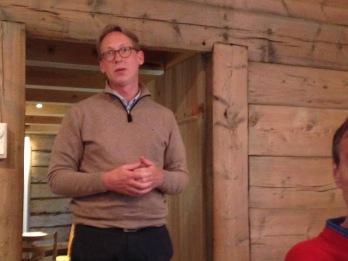 Gen.sekr. Hans Chr. Lillehagen frå Ekstrastiftelsen som har bidratt med midlar til prosjektet.